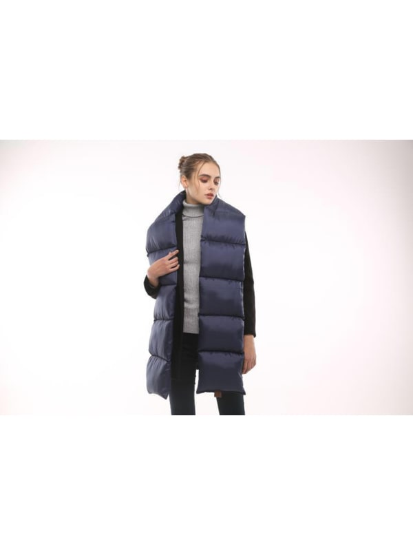 Quilted Nylon Puffer Scarf