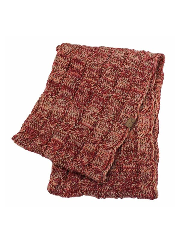 CC® Four-Tone Multi Color Scarf - Brick Red - Front