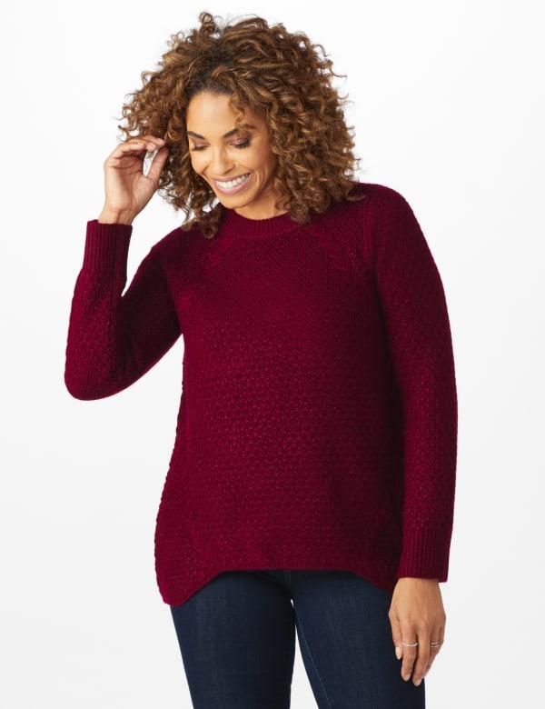 Westport Lurex Sharkbite Pullover Sweater