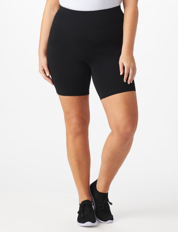 Tummy Control Bike Short - Plus - Black - Front