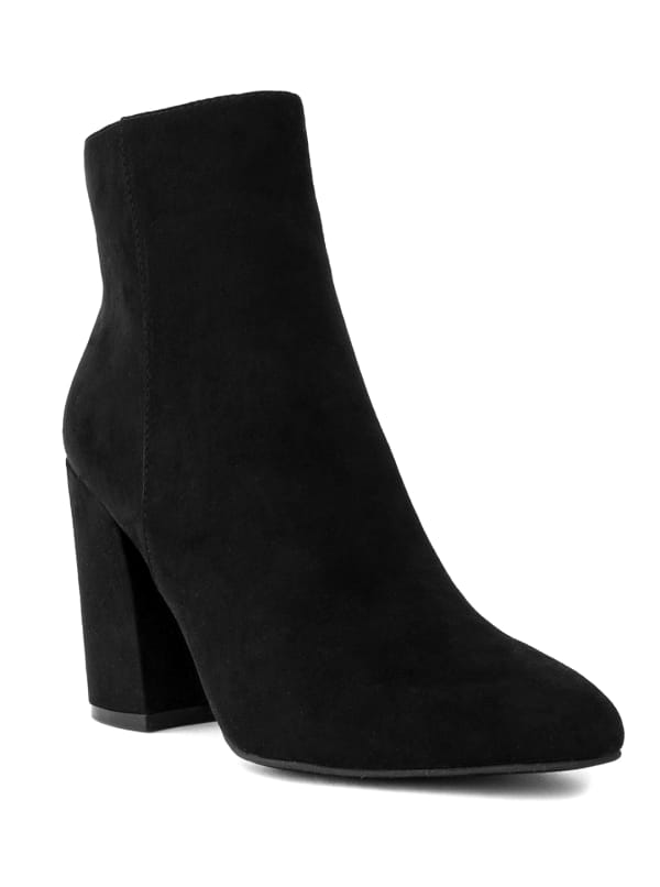 Evvie Faux Suede Ankle Boots