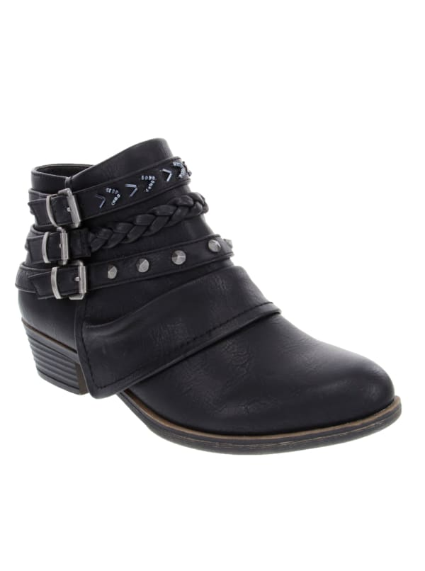 Truth Ankle Strap Booties - Black - Front