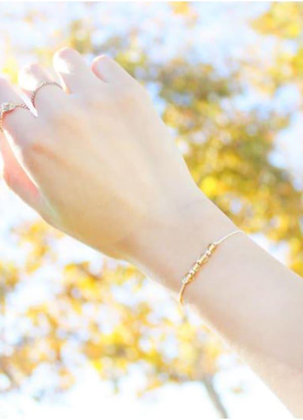 14K Gold Filled Scorpio Bracelet - Gold - Front