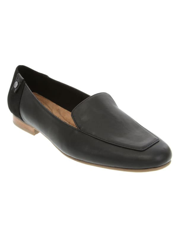 Marjorie Square Toe Loafer - Black Smooth / Combo - Front