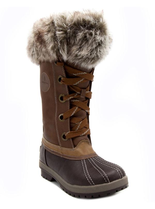 Melton 2 Tall Snow Boots - Cognac - Front