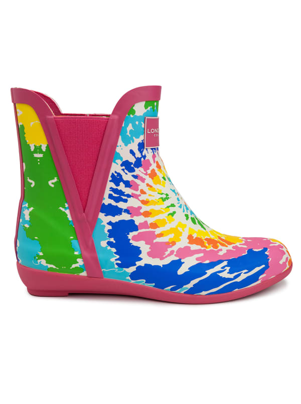 Piccadilly Rain Boots - Fuchsia Tie Dye - Front