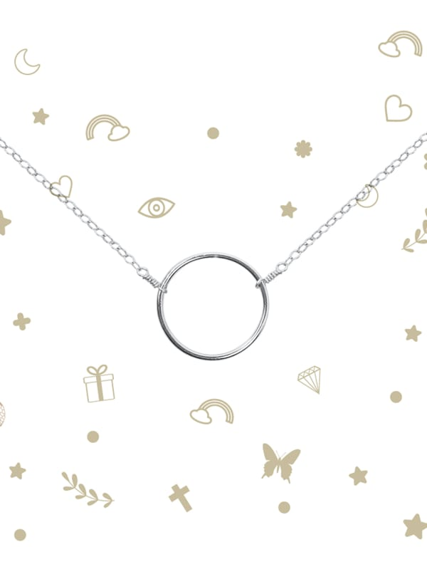 Big Circle Necklace - Sterling Silver - Front