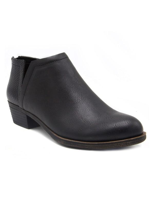Tessa Ankle Shoe Boot - Black Burnished - Front