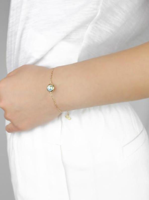 14K Gold Filled Earth Bracelet - Gold - Front