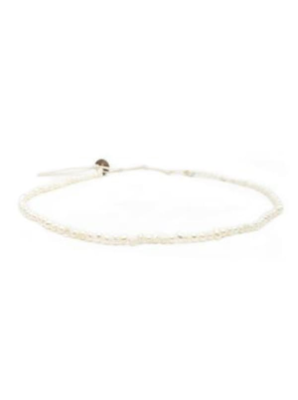 Self Love 4mm Necklace - Natural White - Front