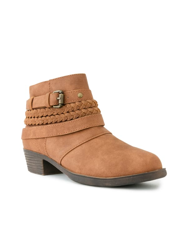 Tick Tock Braided Ankle Booties