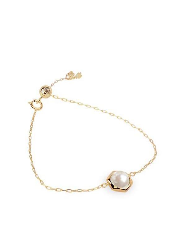 Pearl Bracelet - Gold - Front