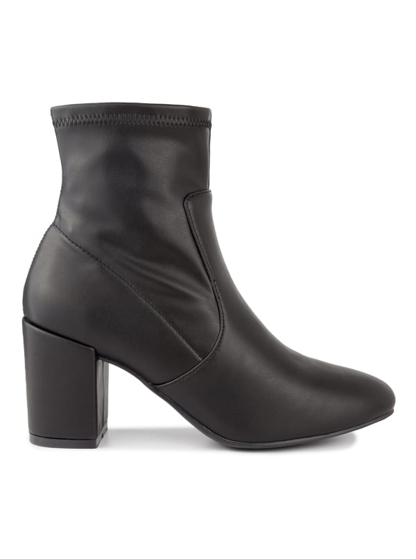 Itsie Stretch Ankle Boots - Black Stretch - Front