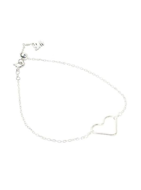 Heart Bracelet - Sterling Silver - Sterling Silver - Front