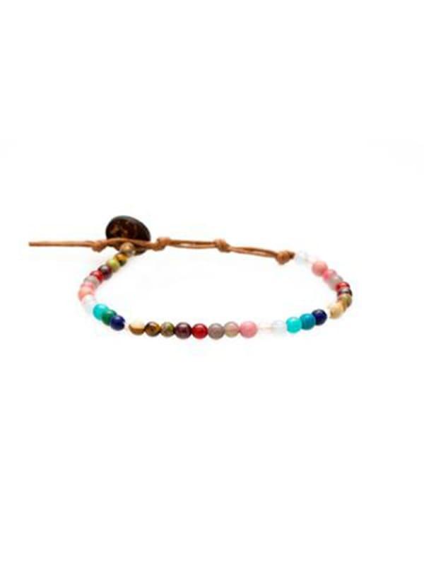 Master Healer 4mm Healing Bracelet - Multi Color - Front