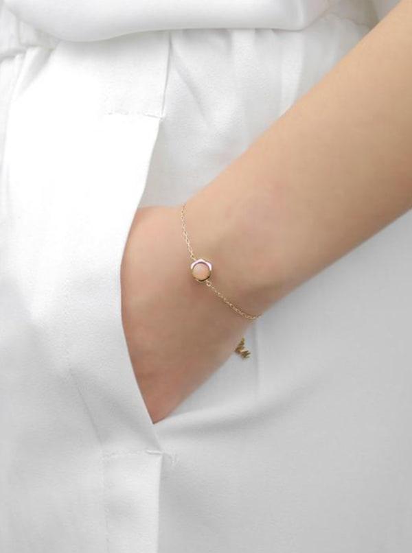 Sunstone Bracelet - Gold - Front
