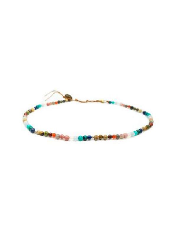 Master Healer 4mm Necklace - Multi Color - Front