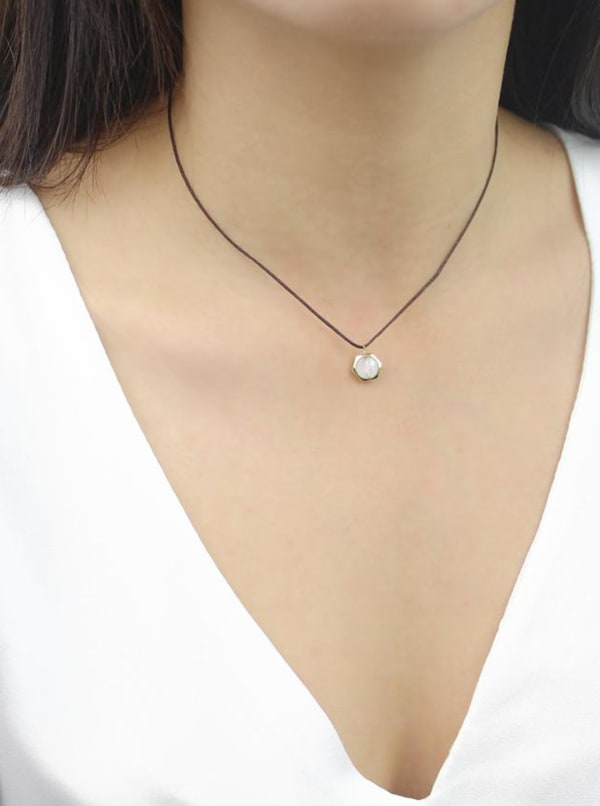 Clear Mind Necklace - Gold - Front