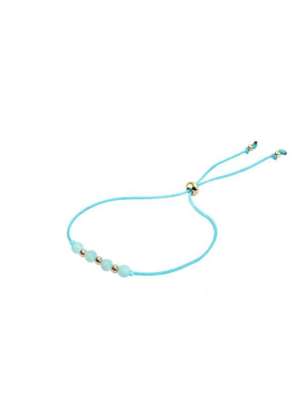 14K Gold Gemini Bracelet - Gold - Front