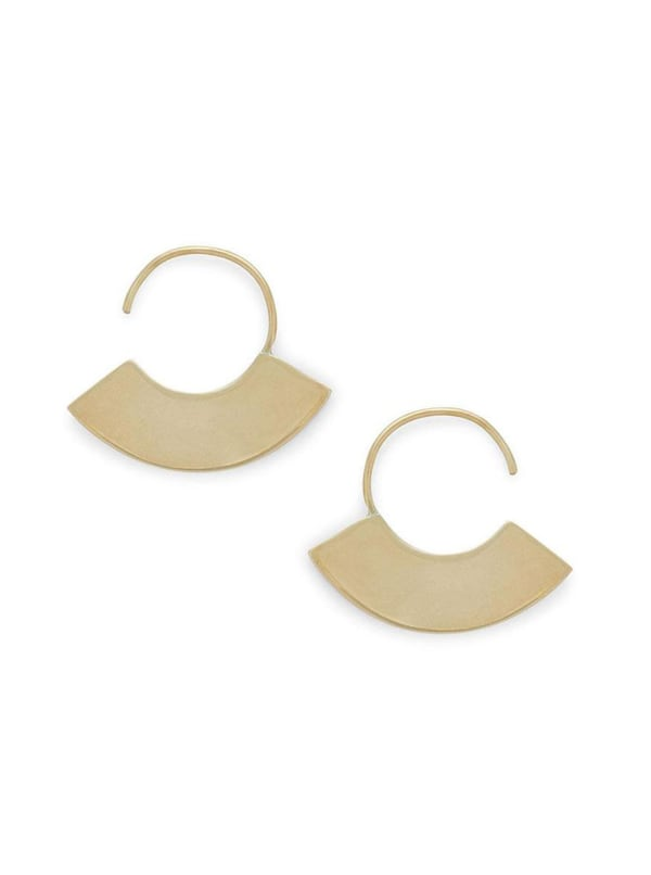 Handcrafted 24K Gold Plated Petite Paddle Threader Earrings
