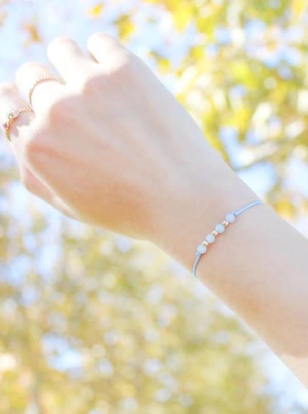 14K Gold Filled Pisces Bracelet - Gold - Front