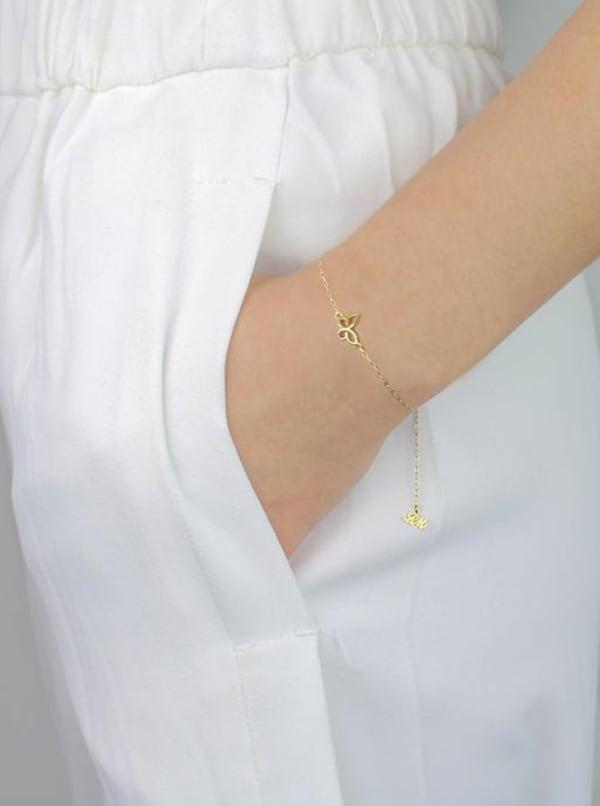 Butterfly Bracelet - Gold - Front