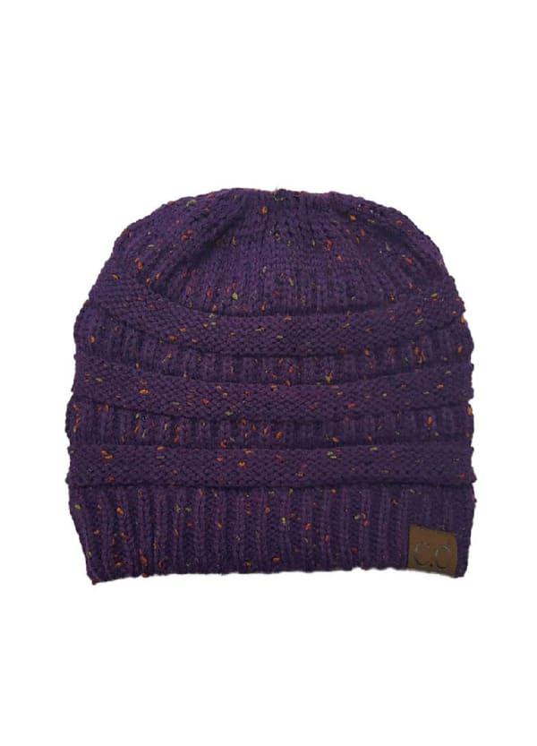 CC® Bun Confetti Beanie - Purple - Front