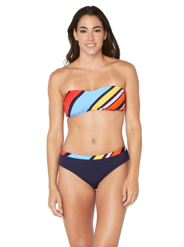 Nautica® Newport Stripe Swimsuit Bikini Bottom - Multi - Front