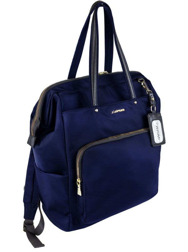 Joan & David Nylon  Zippered Workbook Backpack - Navy - Front