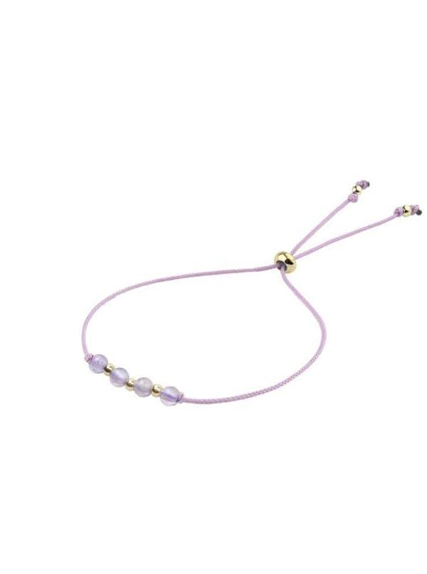 14K Gold Aquarius Bracelet - Gold - Front