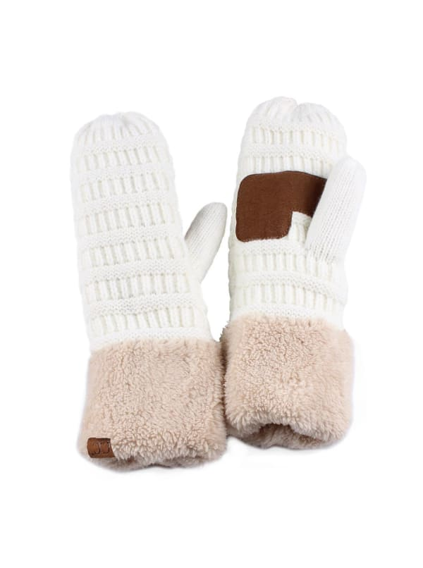 CC® Multi Color Mittens - Ivory / Beige - Front