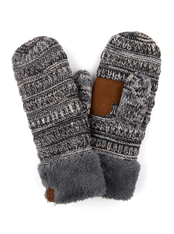 CC® Multi Color Mittens - Grey - Front