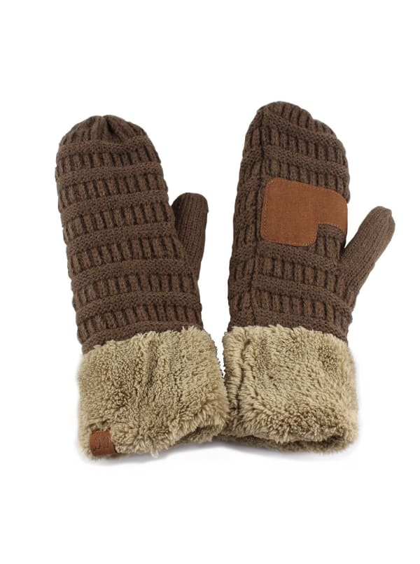 CC® Multi Color Mittens - New Olive / New Sage - Front