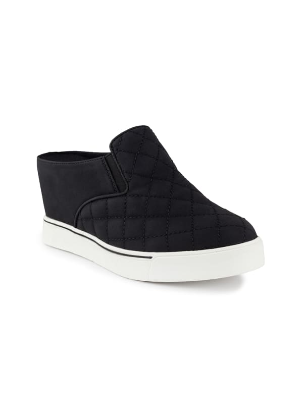 Kallie 2 Wedge Slide Sneaker - Black quilted - Front