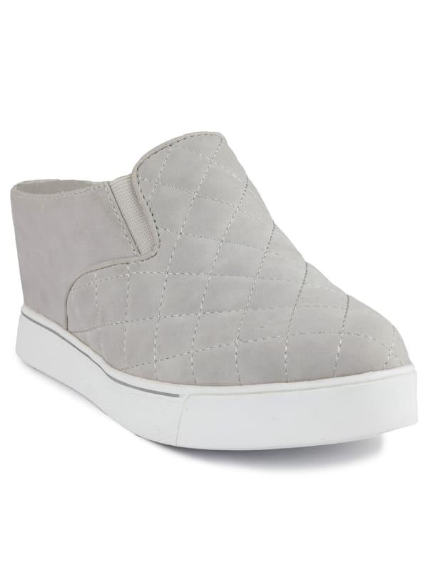 Kallie 2 Wedge Slide Sneaker - Grey quilted - Front