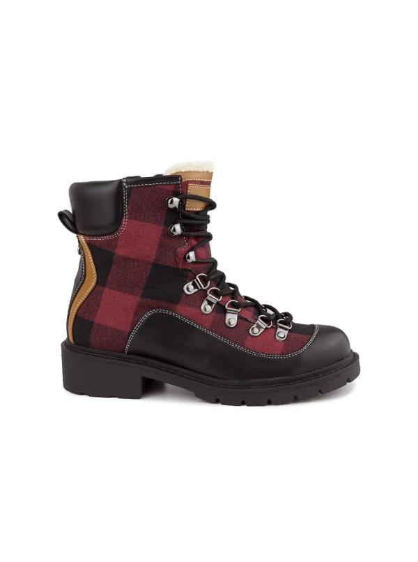 Delaina Plaid Hiker Boots
