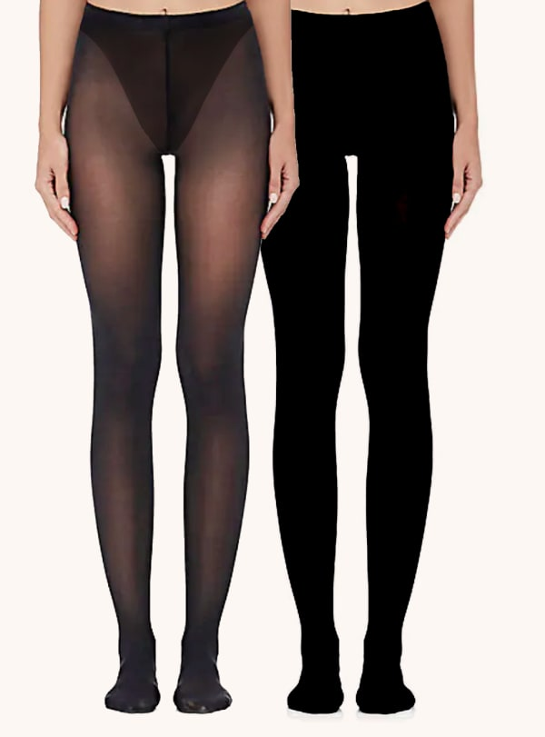 The Essential Edit Tights Socks - Black - Front