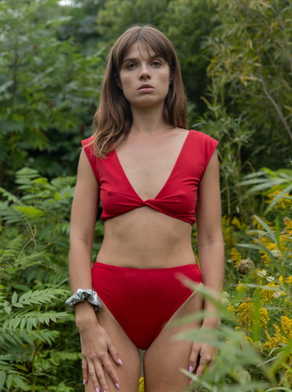 Heather Bottom - Plus - Red - Front
