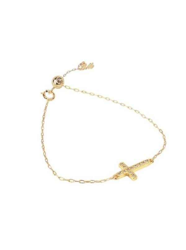 Cross Bracelet - Gold - Front