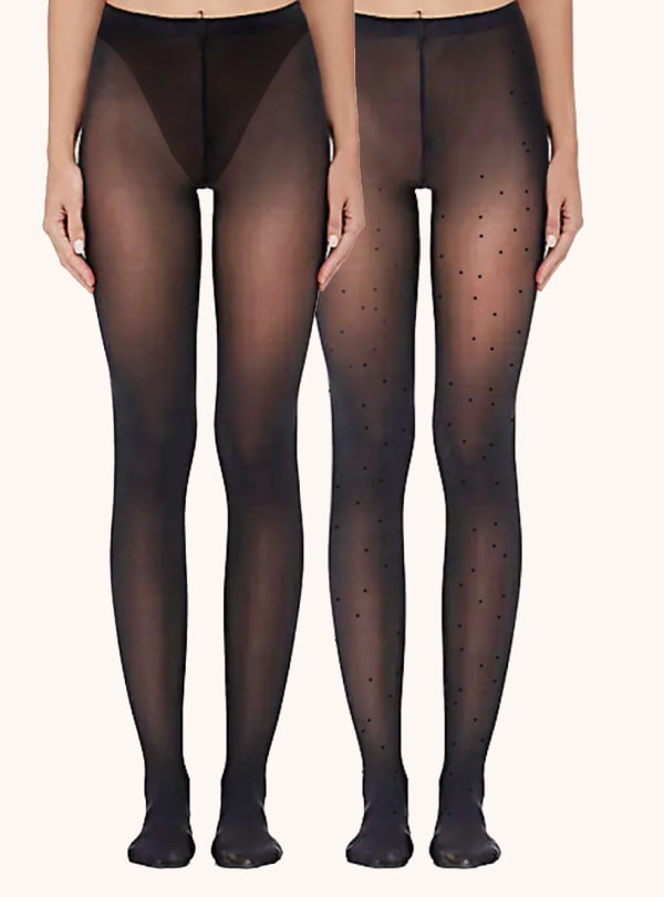Paris Edit Tights Socks - Black - Front