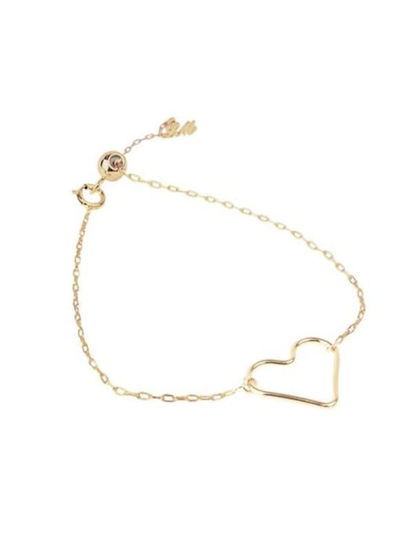 Heart Bracelet - Gold - Gold - Front