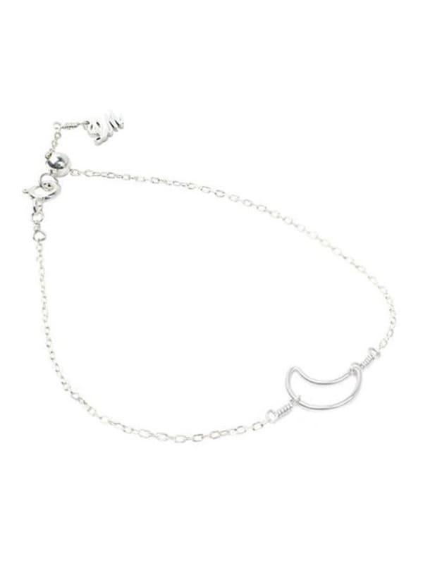 Moon Bracelet - Sterling Silver - Sterling Silver - Front