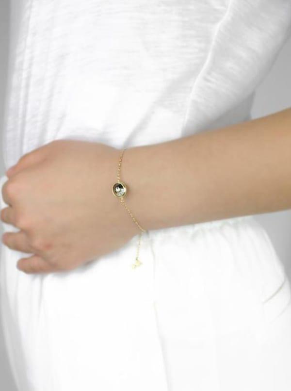 14K Gold Filled Moon Bracelet - Gold - Front