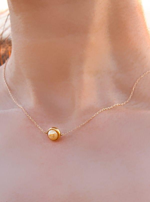 14K Gold Filled Jupiter Necklace - Gold - Front