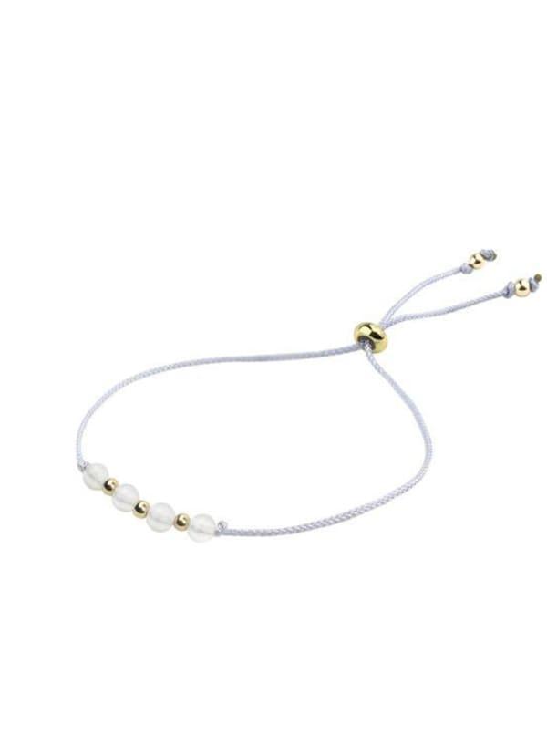 14K Gold Aries Bracelet - Gold - Front