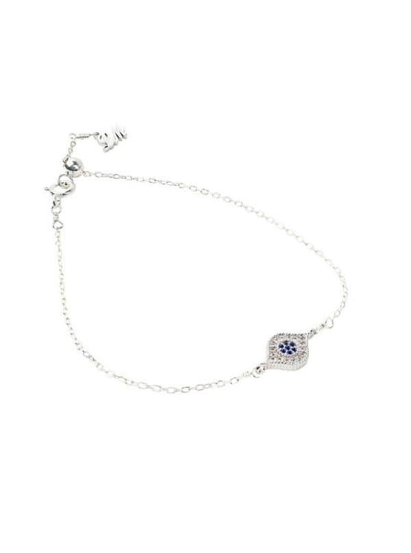 Evil Eye Bracelet - Sterling Silver - Front