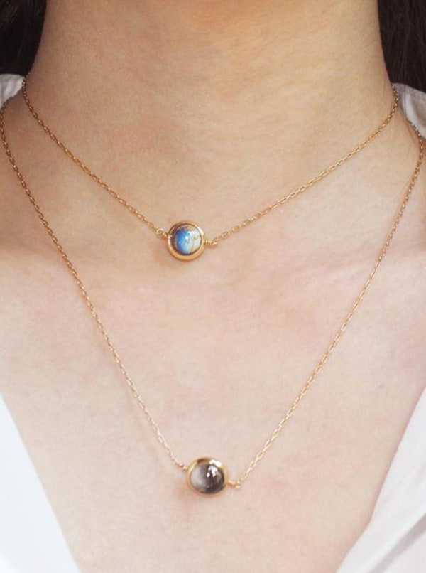 14K Gold Filled Moon Necklace