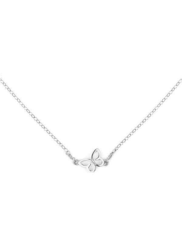 Butterfly Necklace - Sterling Silver - Front