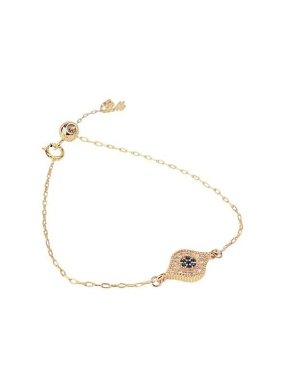 Evil Eye Bracelet - Gold - Gold - Front