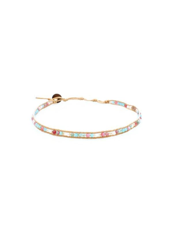 Just Peachy Choker - Pink / Blue - Front